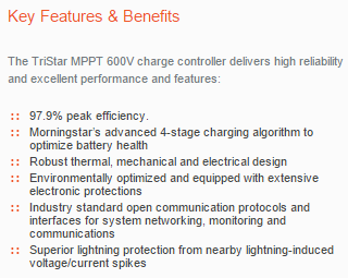 MorningStar-TriStarMPPT600V-Description