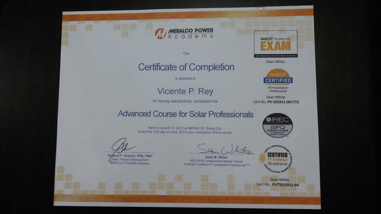 Advance PV Installation Course