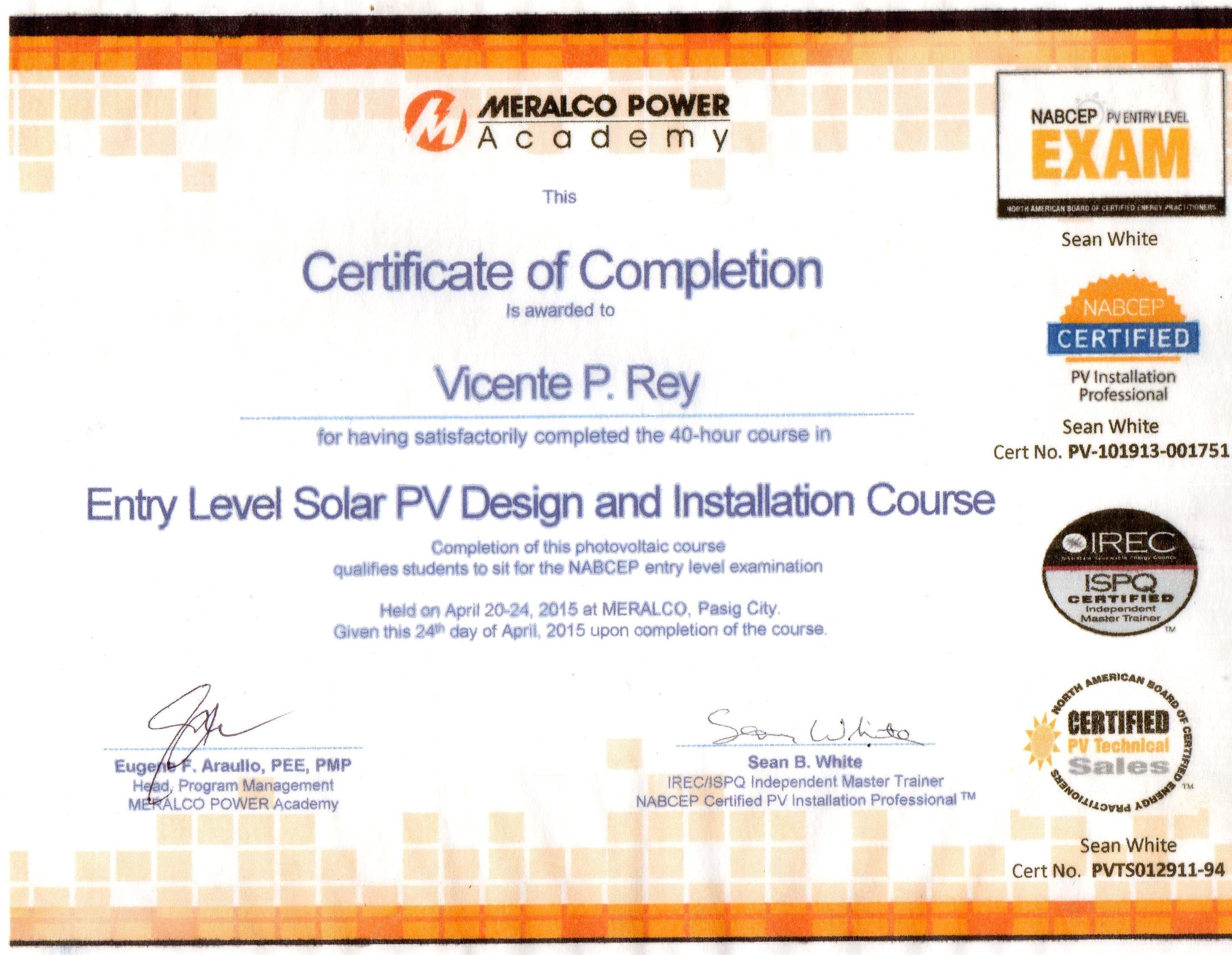 Basic Solar Power Installation Course